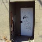Vandalized Door & Exterior Wall