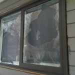 Vandalized Window During Theft