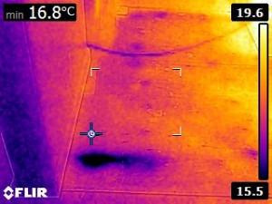 Infrared Moisture Detection